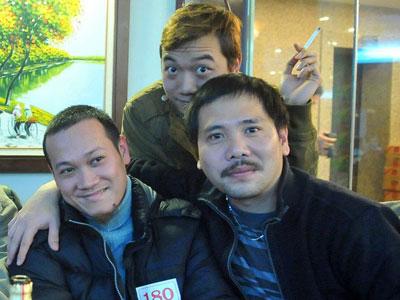 Nguyễn Ngọc Tuấn (trái), Ban Thể thao, Báo điện tử VnExpress, FPT Online. Ảnh: NVCC.