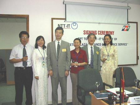 Thành lập OSDC đầu tiên với khách hàng Nhật Bản NTT-IT.