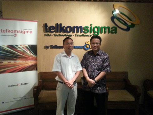 Trưởng VPĐD FPT IS Indonesia Lê Văn Sơn gặp gỡ đối tác hợp tác dự án tại Jakarta. Ảnh: FPT IS.