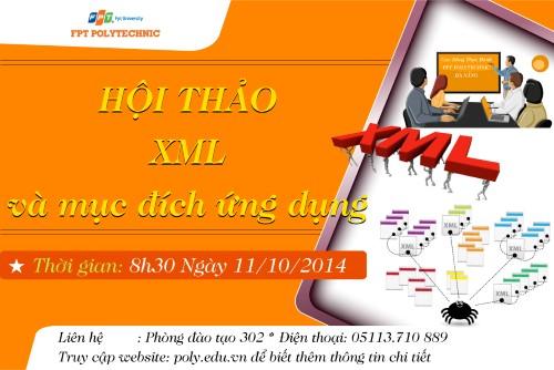 """Sinh viên FPT Polytechnic Đà Nẵng sẽ được trang bị thêm kiến thức về """"XML và mục đích ứng dụng""""."""