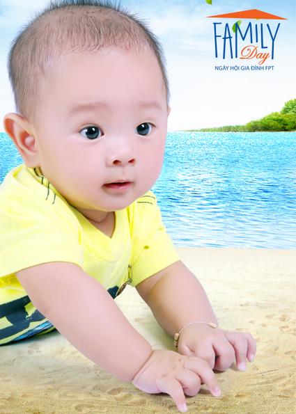 """""""Sản phẩm đầu tay"""" của anh Nguyễn Văn Thọ (FPT Trading) là bé Nguyễn Ngọc Khôi Nguyên, sinh ngày 13/7/2013."""