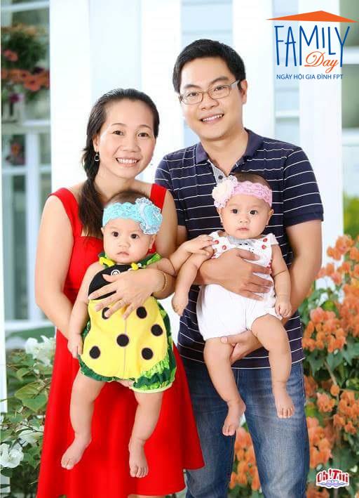 """""""Gia đình yêu thương"""" của anh Nguyễn Hải Đăng, FPT IS Services."""