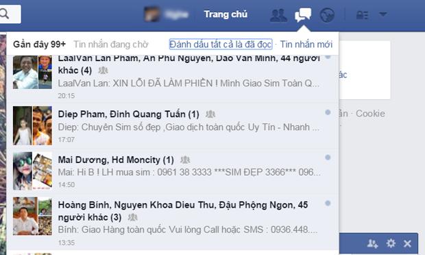 Facebook ra tay dẹp tin nhắn rác