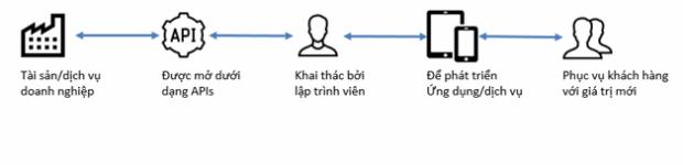Figure 1- Chuỗi khai thác giá trị của API.