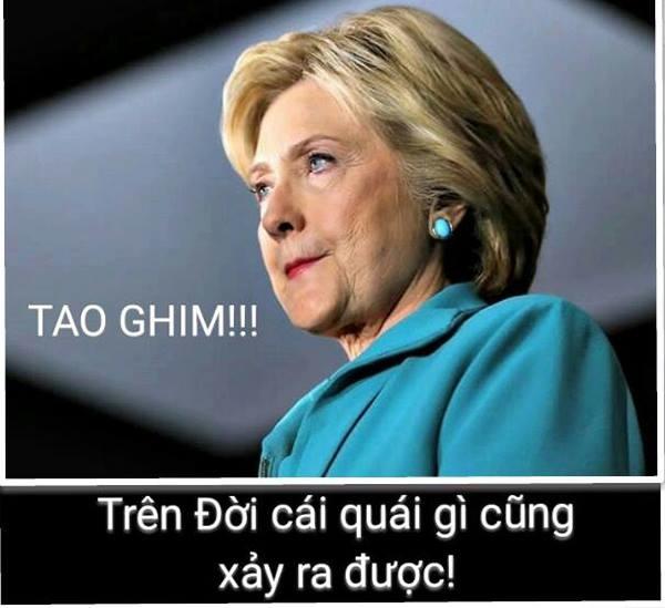 BàHillary Clinton không ngờ mình lại bị thất bại.