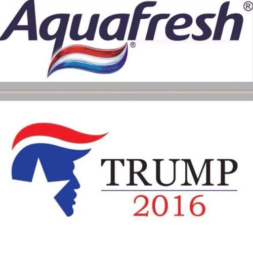 Nhưng nhiều người không quan tâm đến việc Trump trở thành Tổng thống, họ chỉ thấy logo tranh cử của ông giống hệt... kem đánh răng.