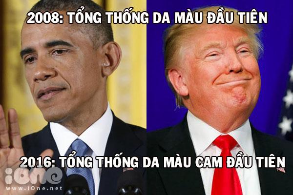 Donald Trump thường xuyên bị so sánh với quả cam.
