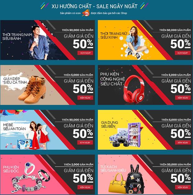 """Sendo giảm giá """"toàn diện"""" ở tất cả các ngành hàng trong Lễ hội mua sắm từ 28/11 đến 2/12."""
