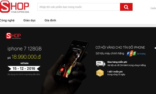 Điện thoại iPhone 7 128GB chính hãng do FPT phân phối, từ 21.690.000 đồng còn 18.990.000 đồng. Sản phẩm hưởng chế độ bảo hành chính hãng FPT 12 tháng. Giao hàng miễn phí nội thành Hà Nội và TP HCM trong vòng 4 giờ, từ thứ Hai đến thứ Sáu.