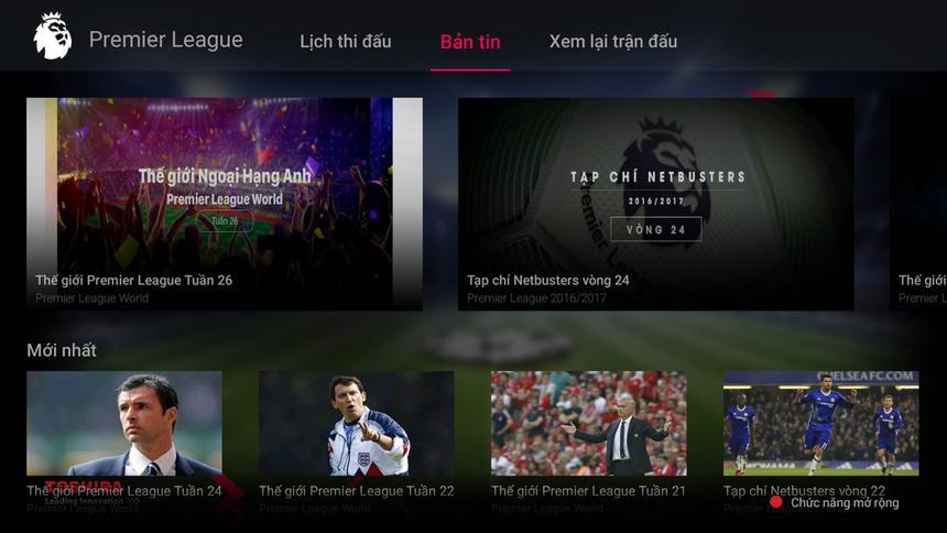 """Tối ưu sở thích người dùng.Với tiêu chí """"luôn đặt lợi ích của khách hàng lên hàng đầu"""", hệ điều hành BoxOS 3 của FPT Play Box thiết lập cho người dùng có khả năng tùy chỉnh, lựa chọn, sắp xếp các danh sách kênh yêu thích cho riêng mình. Ở chuyên mục Ngoại hạng Anh (Premier League) sẽ có thêm nhiều nội dung tiện ích về lịch thi đấu, kết quả xếp hạng cho người dùng. Khách hàng có thể nắm bắt tất cả các thông tin về thể thao, bóng đá ngay trên tivi mà không cần tra cứu trên các phương tiện truyền thông khác."""