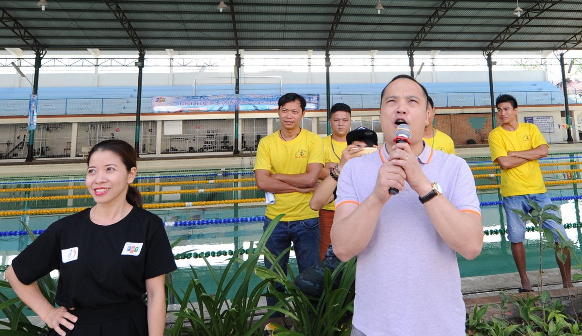 Anh Nguyễn Văn Khoa, TGĐ FPT Telecom kiêm GĐ FPT HCM, tuyên bố khai mạc giải bơi đầu tiên của FPT HCM. Anh Khoa kỳ vọng, mùa giải năm sau, Ban tổ chức sẽ bổ sung các giải mang tính tập thể, như đua thuyền chuối, để tăng tính tương tác và tinh thần tập thể của người nhà F.