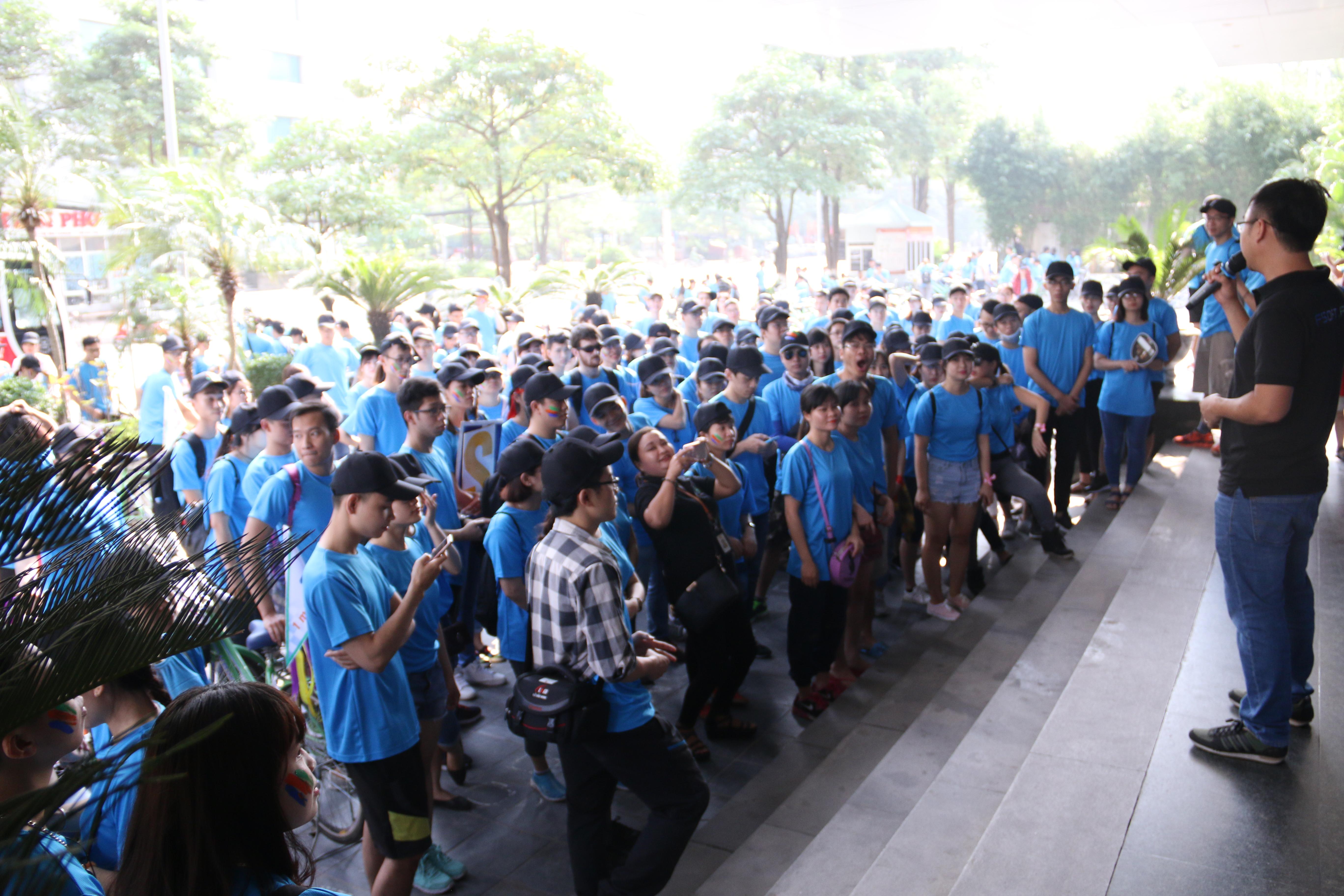 Dù một thời gian dài chưa đạp xe nhưng Hà Thị Thị Phương (FSU11.Z79) vẫn cảm thấy rất tự tin trước giờ khởi hành và quyết tâm đạt giải Nhất.