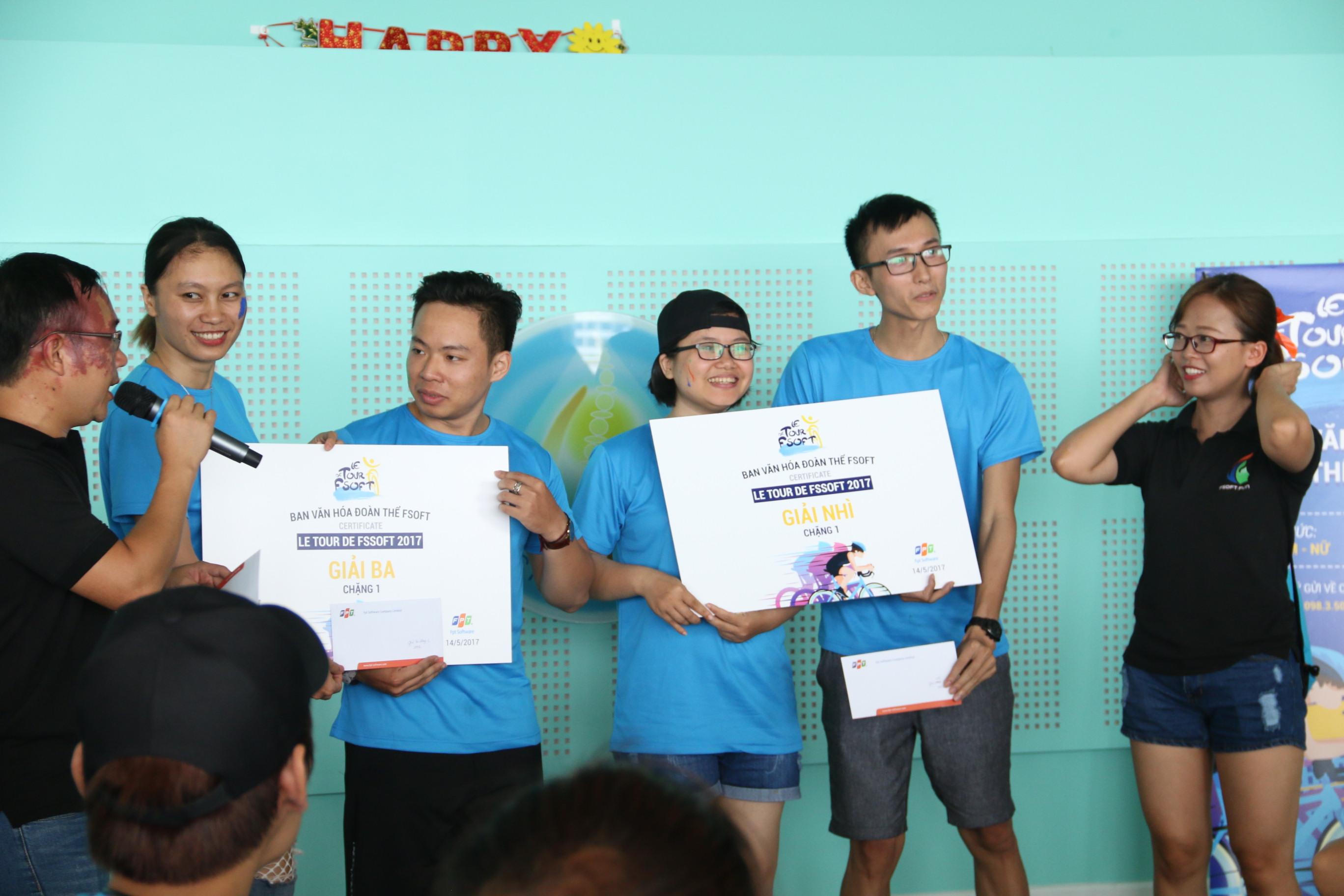 Giải Nhì và Ba chặng 1 được trao cho Cặp đôi Nguyễn Tùng Lâm và cặp Nguyễn Văn Trương, FPT Software.