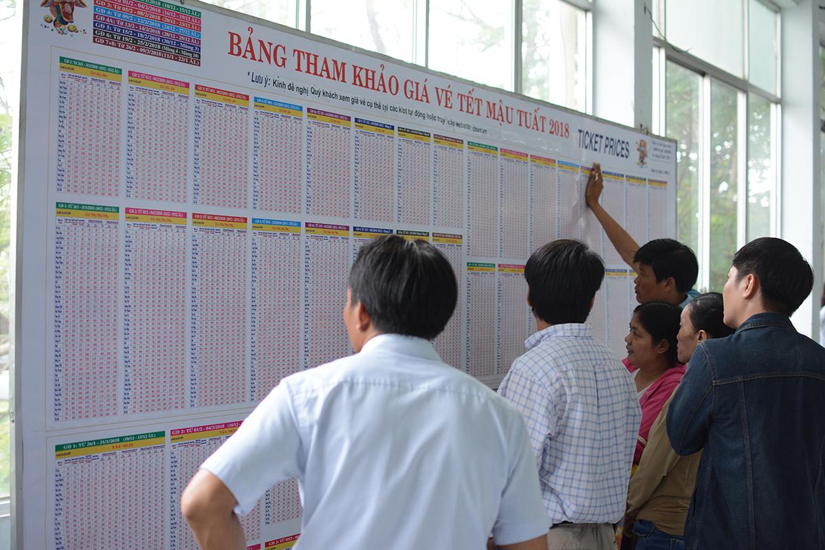 Thay vì kiểm tra thông tin trực tiếp trên website của Đường sắt Việt Nam, người dân vẫn còn thói quen tra cứu thông tin vé tàu tại ga.