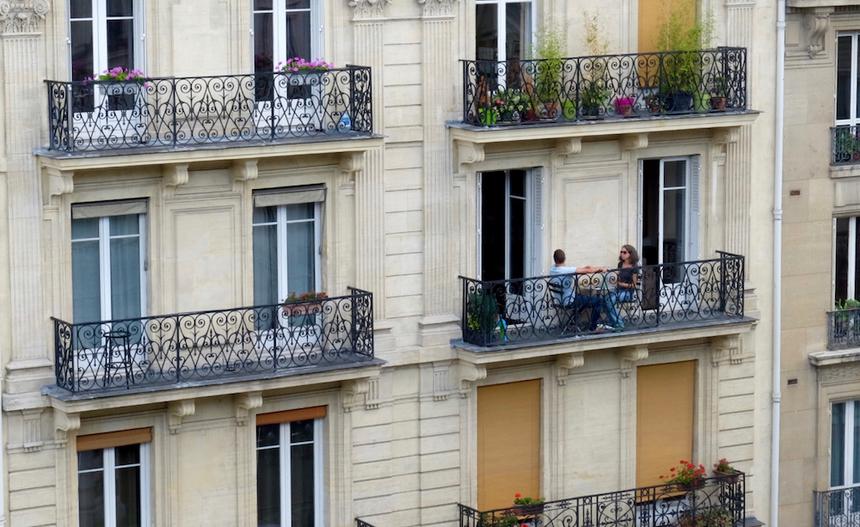 Nét kiến trúc đặc trưng của Paris.