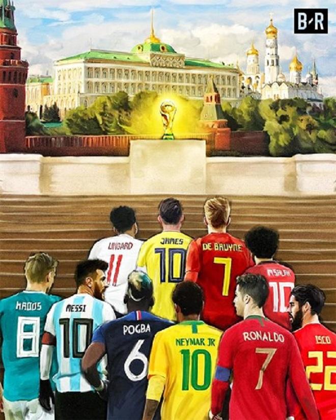 World Cup 2018 tại Nga là nơi hội tụ của những ngôi sao xuất sắc nhất thế giới bóng đá.
