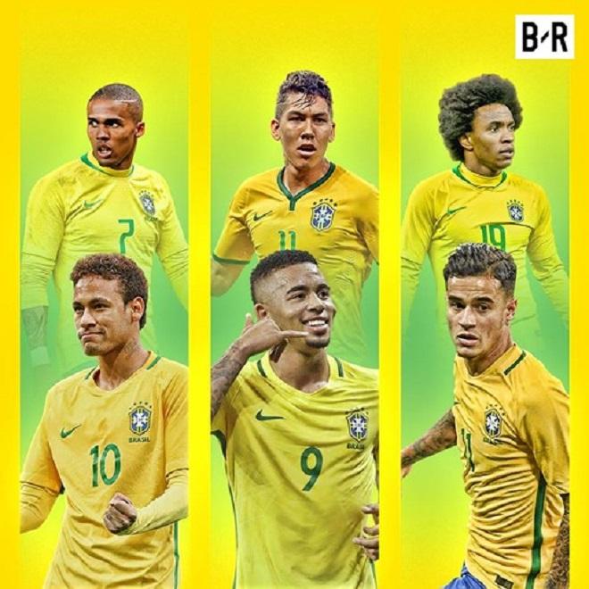Brazil đang sở hữu hàng công mạnh nhất thế giới. Họ cũng được xem là ứng viên số 1 cho ngôi vô địch World Cup 2018.