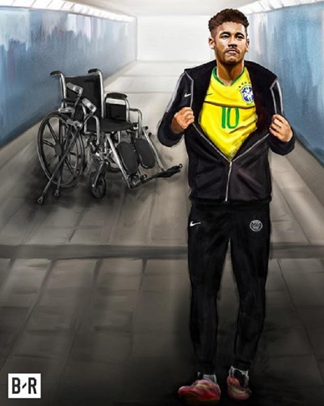 Cũng giống như Mohamed Salah, tiền đạo Neymar vừa bình phục chấn thương, và sẵn sàng gánh vác trọng trách ở Brazil.