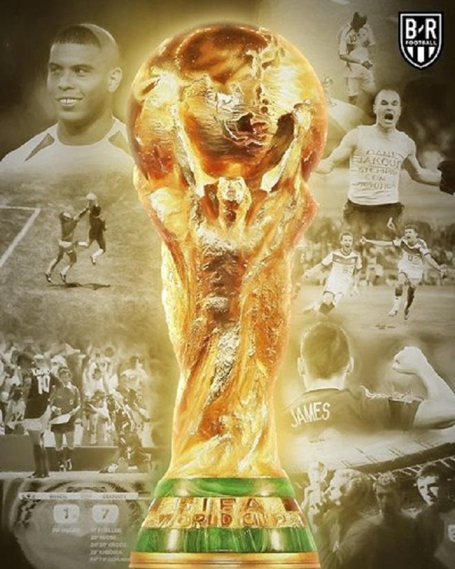 World Cup và những khoảnh khắc không thể nào quên trong lịch sử. Giải năm nay được tổ chức tại 11 thành phố ở Nga, từ 14/6 đến 15/7. 32 đội tuyển được chia làm 8 bảng, mỗi bảng 4 đội. Các đội đấu vòng tròn một lượt để tìm ra hai đội có thành tích tốt nhất bảng, lọt vào vòng loại trực tiếp.