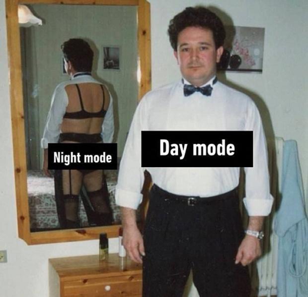 Thời trang ngày và đêm.