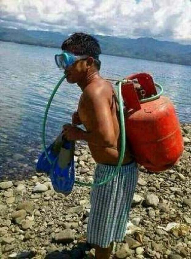 Bộ dụng cụ lặn chỉ sử dụng một lần trong đời.