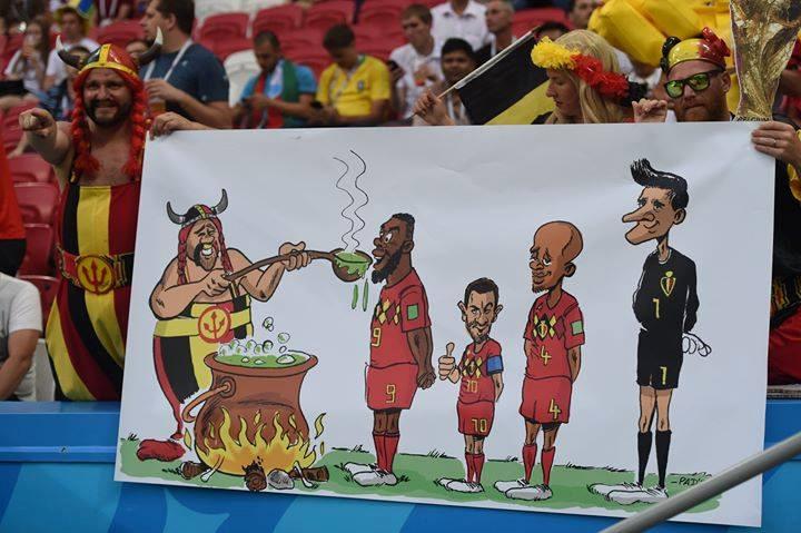 Nhờ uống nước thần của Obelix, dàn sao tuyển Bỉ có trận đấu thăng hoa ở mọi vị trí.