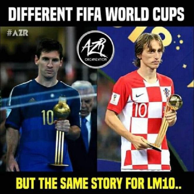 Hai kỳ World Cup liên tiếp và nỗi buồn của 2 cái tên LM10 - Lionel Messi và Luka Modric.