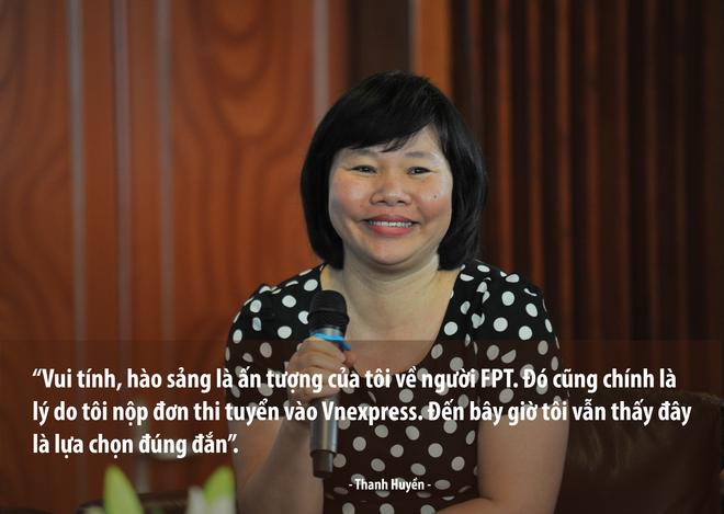 Thư ký tòa soạn VnExpress Thanh Huyền gắn bó với báo suốt 17 năm qua. Một trong 25 năm phóng viên đầu tiên của báo tiếng Việt được đọc nhiều nhất chia sẻ với khán giả FPT về con đường chị gia nhập FPT và VnExpress.
