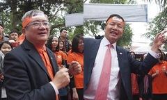 Chủ tịch và TGĐ FPT lắc lư điệu nhảy mừng tập đoàn tuổi 30