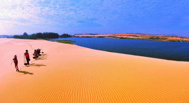 Mũi Dinh, Cà Ná, Cổ Thạch, Mũi Né, khu du lịch Hồ Công, Sông Ray... là những danh thắng nổi tiếng trải dài từ Ninh Thuận tới Bình Thuận mà đội quân áo cam sẽ lướt qua.