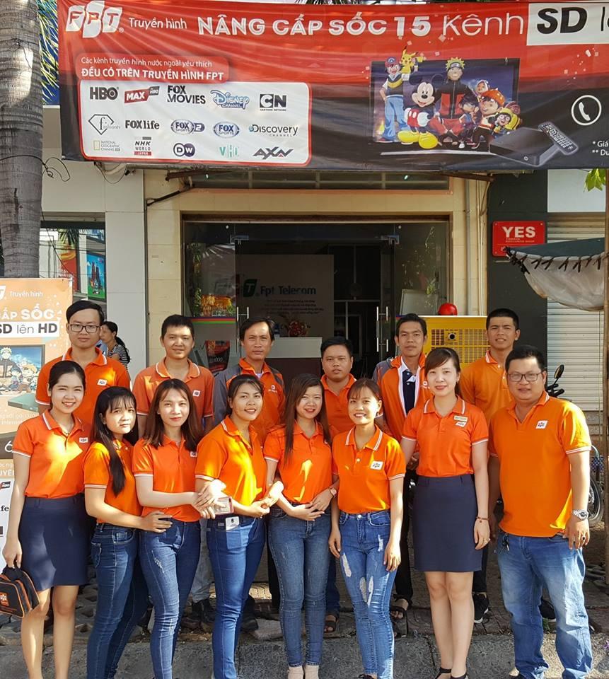 Chi nhánh FTP Telecom Bạc Liêu rạng rỡ trong màu áo cam sáng nay.
