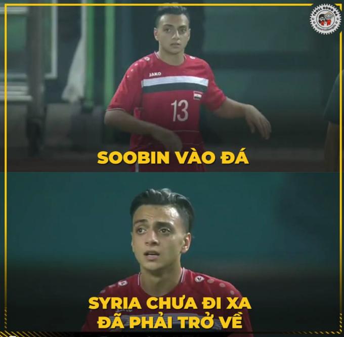 Được tung vào sân ở phút thứ 73, cầu thủ mang áo số 13 được nhiều khán giả chú ý vì có vẻ ngoài giống ca sĩ Soobin Hoàng Sơn.