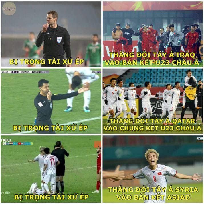 Nhiều dân mạng cho rằng trọng tài người Iran hôm nay đã có những màn phán quyết thiên vị các cầu thủ Syria. Tuy nhiên, điều đó không thể ngăn cản các cầu thủ Việt Nam giành chiến thắng.