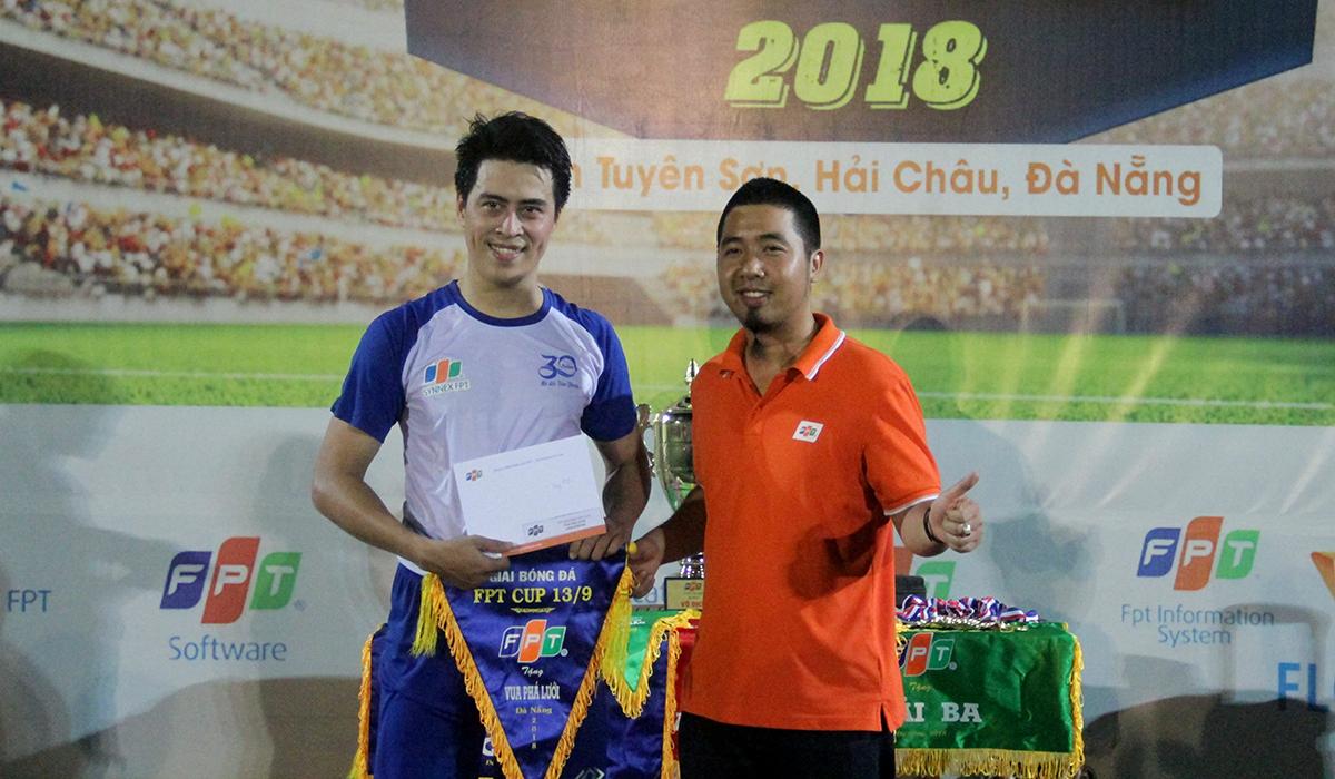 Ở hàng mục giải thưởng cá nhân, tiền đạo Trọng Huy - Synnex FPT giành danh hiệu Vua phá lưới với 9 bàn thắng.