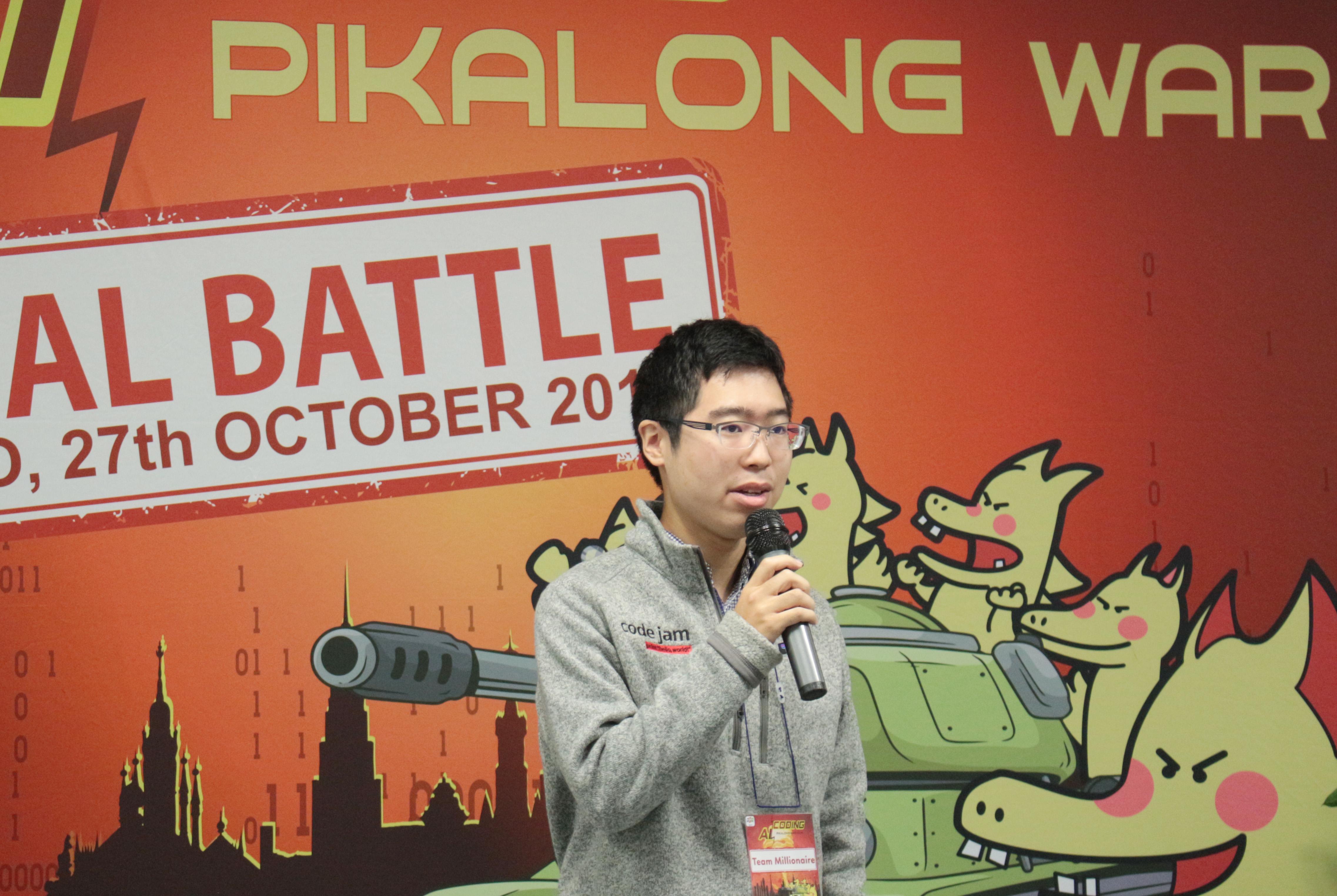 Đại diện 11 đội thi, thí sinh Kiko (nickname) tuyên thệ thi trung thực, nỗ lực hết mình.