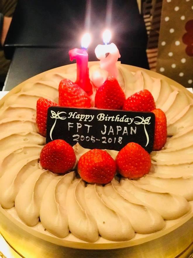 Bánh sinh nhật văn phòng Shizuoka dành để chúc mừng FPT Japan 13 tuổi.