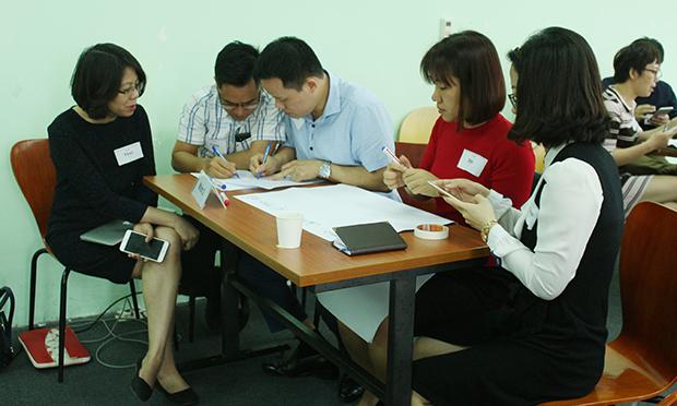 5 kỹ năng mà 5 nhóm đưa ra thảo luận là: Kết nối, xây dựng quan hệ; Quản lý thay đổi; Phát triển bản thân; Teamwork và Thích nghi.