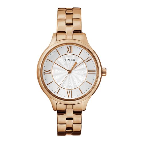 Đồng hồ Timex nổi bật với tính năng đèn nền Indiglo cùng thiết kế đơn giản, thanh lịch phù hợp với những người chuộng phong cách tối giản. Phái nữ có thể tham khảo đồng hồ Timex Peyton 36 mm - TW2R28000 màu hồng nhạt giá 1,34 triệu đồng (giá gốc 2,68 triệu đồng).