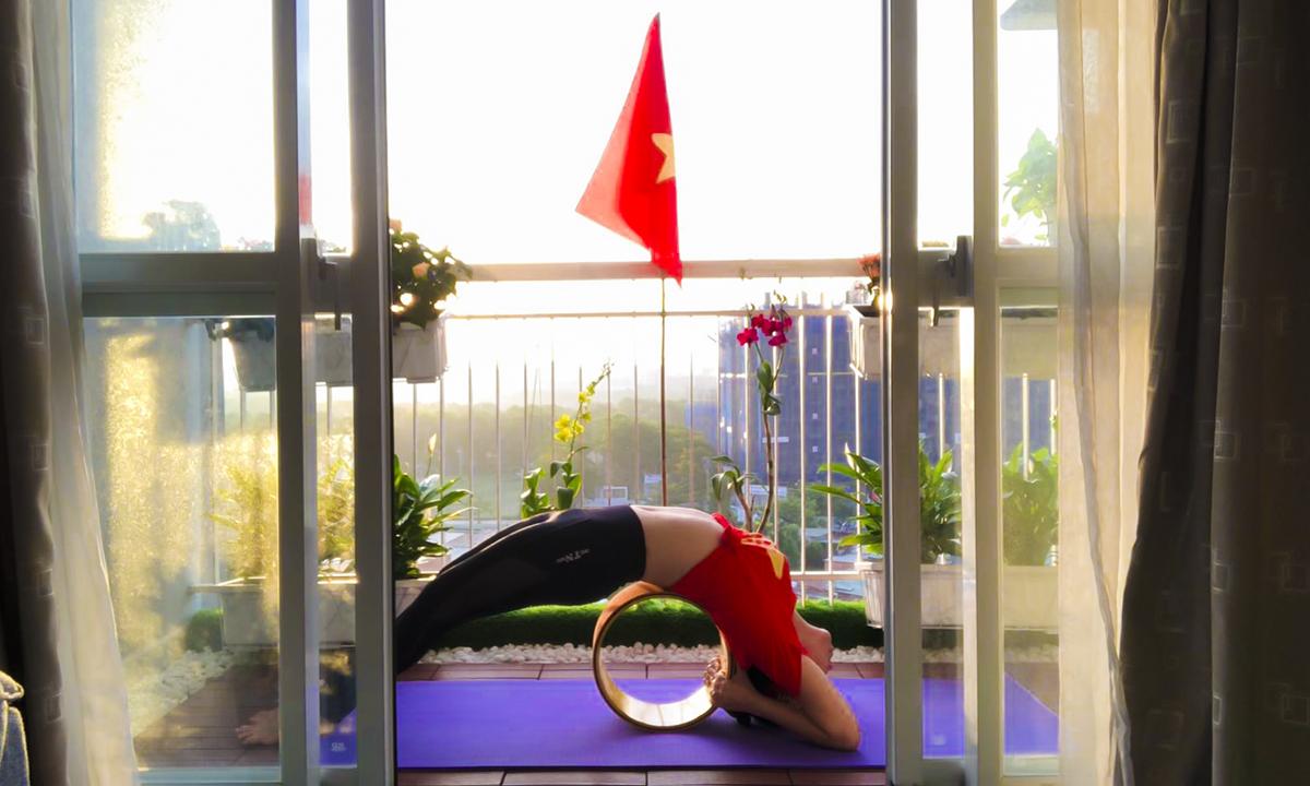 Chị cho biết, bộ môn Yoga đã giúp chị cải thiện về vóc dáng, sức khỏe lẫn tinh thần.