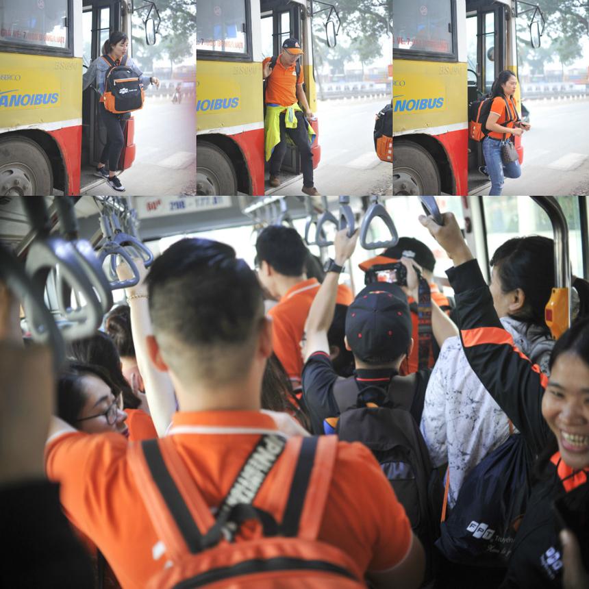 Ở khóa tập huấn năm nay, điểm khác biệt là các đội phải di chuyển hoàn toàn bằng xe bus qua các chặng để tìm đáp án.
