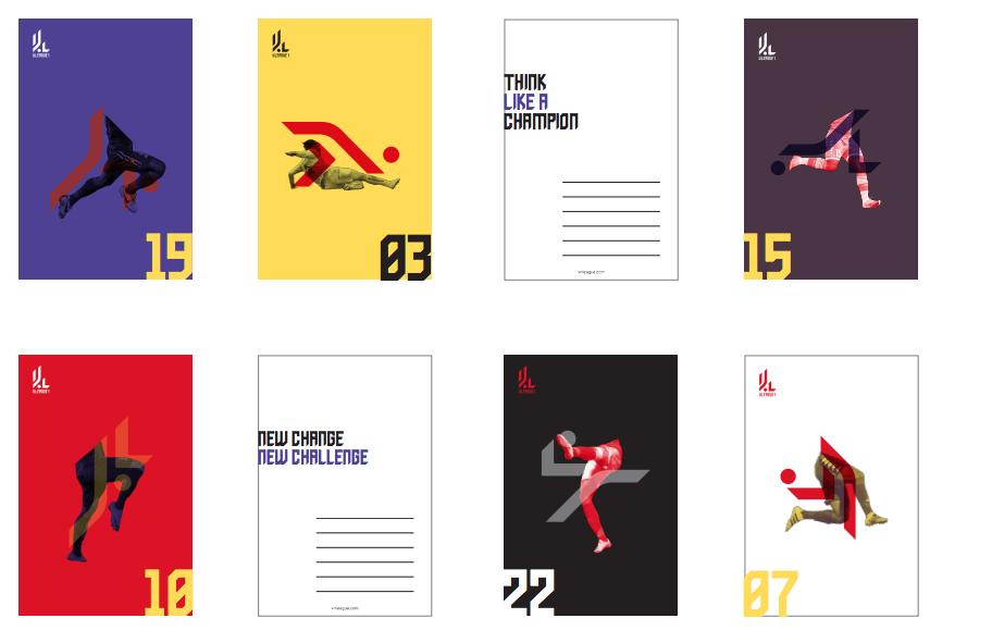 Logo mô tả các động tác khống chế bóng của các cầu thủ từ chạy, chuyền, tâng, xoạc, đánh gót,....