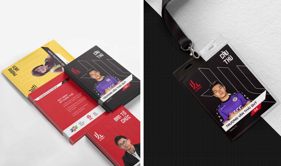 Các loại thẻ phóng viên, thẻ thông tin cầu thủ, thẻ thành viên Ban Tổ chức,...