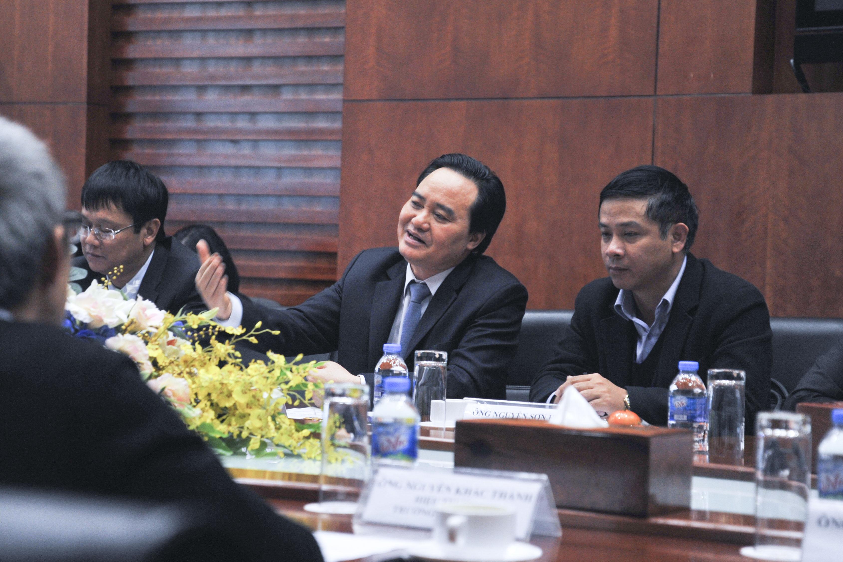 Theo Bộ trưởng, đẩy mạnh ứng dụng công nghệ thông tin trong quản lý dạy và học là một trong những mục tiêu hàng đầu trong thời gian tới. Bộ trưởng mong muốn FPT sẽ tiên phong trên con đường đào tạo ra những kĩ sư, những trung tâm nghiên cứu về trí tuệ nhân tạo AI. Bộ trưởng tin tưởng FPT sẽ có những đóng góp tích cực hơn nữa cho Việt Nam nói chung và ngành giáo dục nói riêng.