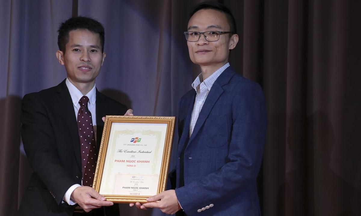 Cá nhân xuất sắcFPT Okinawa2018 là anh Phạm Ngọc Khánh. Nhân viên mới xuất sắc là chị Yuine Atsuko. Giải thưởng Tập thể xuất sắc thuộc về Team K.