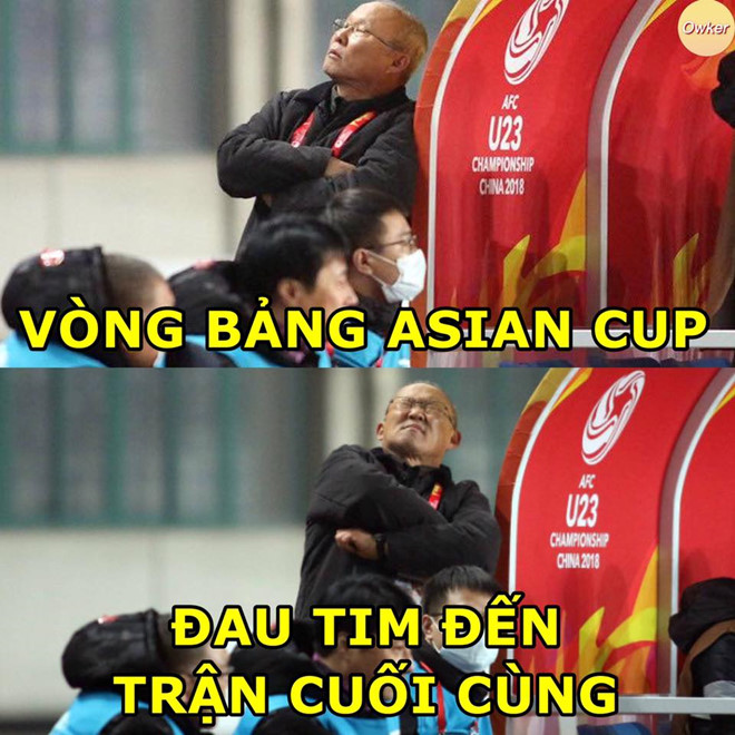 """Lỡ mất cơ hội tự quyết định tấm vé đi tiếp vào vòng 1/8 tại Asian Cup 2019, đội tuyển Việt Nam phải trông chờ vào kết quả ở hai trận cuối cùng bảng E, F giữa Oman - Turkmenistan và Lebanon - CHDCND Triều Tiên. """"Đau tim đến trận cuối cùng"""" là những gì dân mạng đề cập..."""