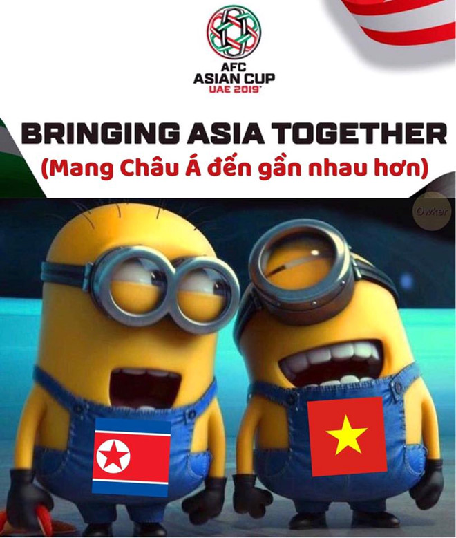 """Cộng đồng mạng Việt Nam nhanh chóng xác định slogan của Asian Cup 2019 là """"Bringing Aisa together"""" (mang Châu Á đến gần nhau hơn)."""
