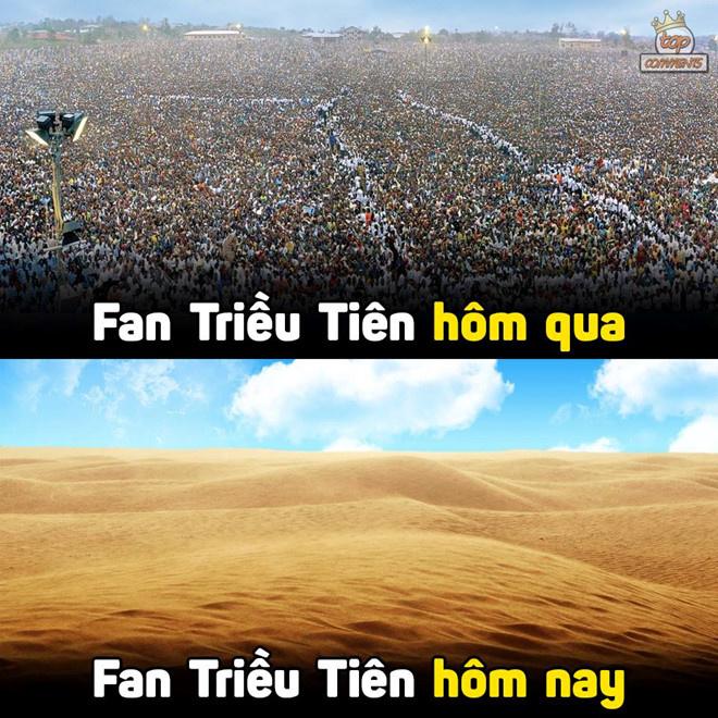 Một lần nữa, cổ động viên Việt Nam trở thành fan đội bóng các nước khác. Cụ thể, người hâm mộ Việt trở thành fan Turkmenistan lúc 21h và fan Triều Tiên lúc 23h.