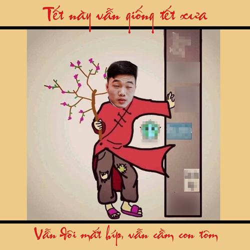 """Tiền vệ Xuân Trường vẫn """"đôi mắt híp""""..."""