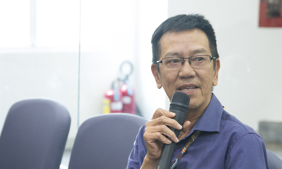 Đại diện SEPG - anh Thái Quang Hy chia sẻ về các chương trình chất lượng sắp thực hiện.