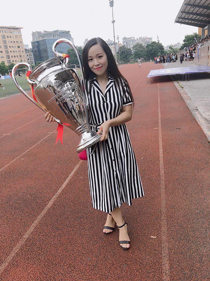 Chu Thị Diệu Anh (FHN.GA) là fan của câu lạc bộ Manchester United và Cristiano Ronaldo.